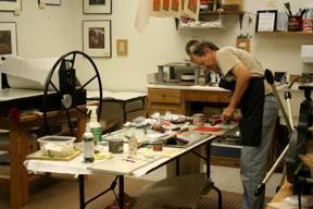 Studio space at Black Dog Press