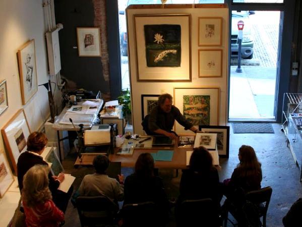 Presenting print demo at if Art Gallery Columbia, SC